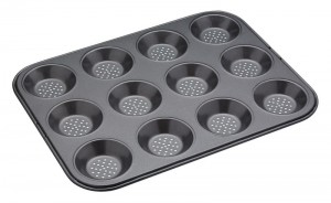 Forma do muffinów Crusty Bake Kitchen Craft perforowana